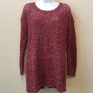 Lucky Brand Burgundy Sweater w/Laced Back